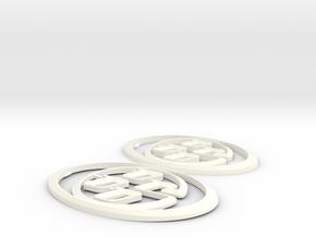 3F 3R Set in White Processed Versatile Plastic