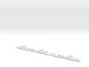 Hachi1-Medium Beveled in White Natural Versatile Plastic