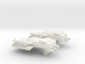 4 Boarding Spaceship x2 in White Natural Versatile Plastic