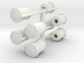 1:76th Bin 3 sprue in White Natural Versatile Plastic