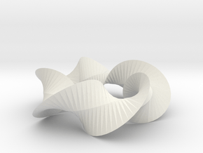 Sharp Twist Star in White Natural Versatile Plastic