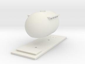 "CIE Bulk ""Bubble"" Cement Tank N Scale in White Natural Versatile Plastic"