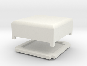 Tiny Box With Lid in White Natural Versatile Plastic