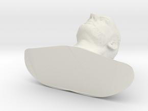 Jean Reno as Leon - 10cm tall in White Natural Versatile Plastic