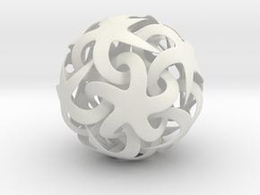 Printtest in White Natural Versatile Plastic