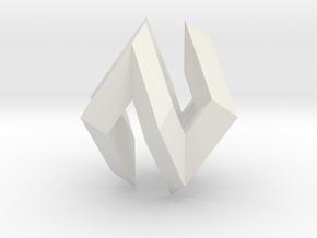 Cubocta in White Natural Versatile Plastic