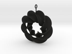roter plow earring 1 in Black Natural Versatile Plastic