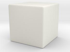 Blank die solid in White Natural Versatile Plastic