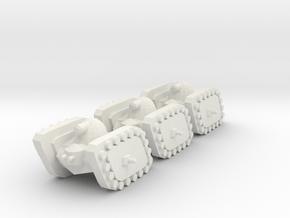 3 Tank x3 in White Natural Versatile Plastic