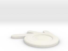 Blender Logo in White Natural Versatile Plastic