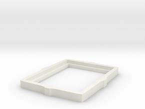 Picture Frame in White Natural Versatile Plastic