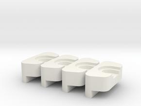 clip 3 in White Natural Versatile Plastic