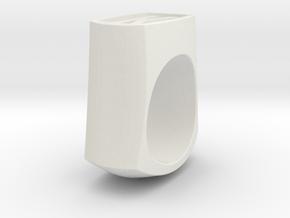 Signet Ring in White Natural Versatile Plastic