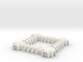 Small Gothic Outpost in White Natural Versatile Plastic