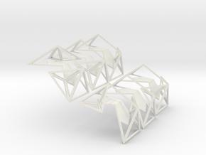 Icosahedrik in White Natural Versatile Plastic
