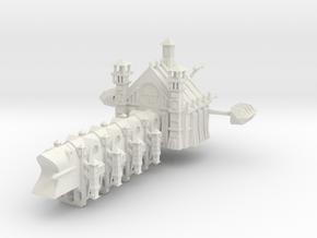 Gothic Battleship in White Natural Versatile Plastic