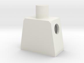 Minifig Body in White Natural Versatile Plastic
