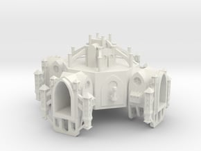 Gothic Space Station in White Natural Versatile Plastic