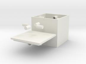 Small Centripetalbox in White Natural Versatile Plastic