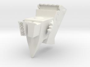 Cutzilla small-size in White Natural Versatile Plastic