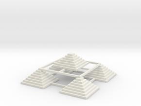 Pyramid 5 in White Natural Versatile Plastic