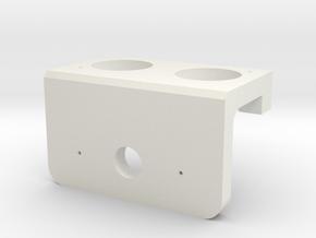 Heavy Duty Servo Mount for Ultrasonic Sensor in White Natural Versatile Plastic