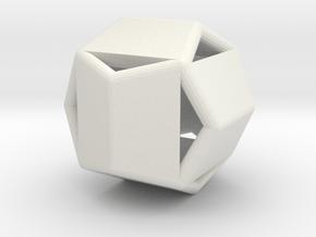 d12 pyrite1 blank in White Natural Versatile Plastic