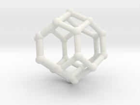 Truncated octahedron in White Natural Versatile Plastic