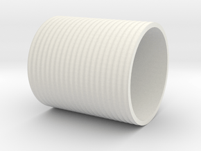 7mm Scale 500 Gal Water Tank in White Natural Versatile Plastic