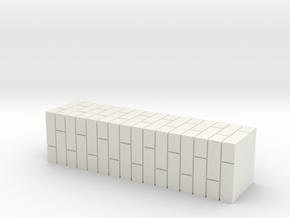 7mm Scale Double Brick Pier in White Natural Versatile Plastic
