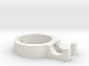 Chuck Key Holder in White Natural Versatile Plastic