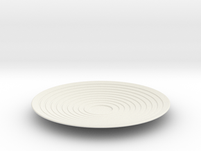 Saucer in White Natural Versatile Plastic
