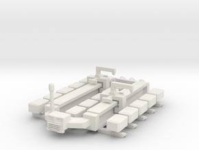Cargo Spaceship in White Natural Versatile Plastic