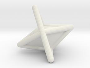 d6 die-pyramid blank in White Natural Versatile Plastic