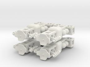 8 Small Spaceship x4 in White Natural Versatile Plastic