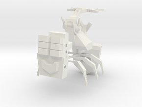 Barrage Beetle in White Natural Versatile Plastic