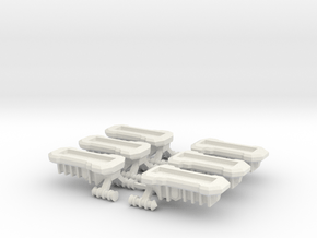 Gothic Hover APC x6 in White Natural Versatile Plastic