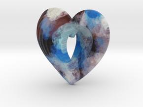 Fractal Heart Bauble 4 in Full Color Sandstone