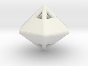 d12 die-pyramid blank in White Natural Versatile Plastic