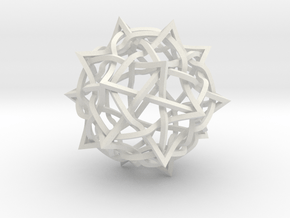 5 twisted cubes in White Natural Versatile Plastic