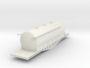 N Scale Irish Bogie Cement Tank in White Natural Versatile Plastic