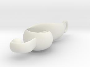 Semi Mini Clef in White Natural Versatile Plastic