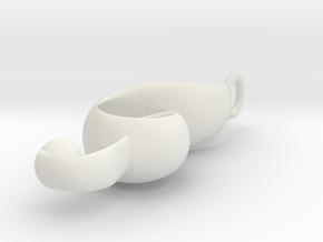 Mini Clef in White Natural Versatile Plastic