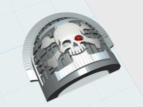 10x Deathwatch Pauldrons: Bravo in Smooth Fine Detail Plastic