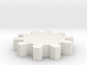 zahn in White Natural Versatile Plastic