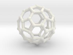 Truncated icosahedron in White Natural Versatile Plastic
