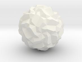 Maroon Star in White Natural Versatile Plastic