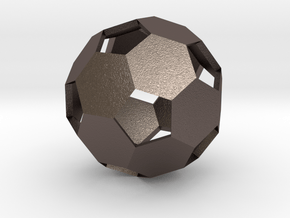 Soccer Ball in Polished Bronzed Silver Steel
