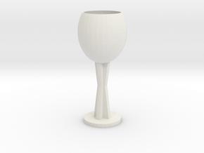 Wine glass in White Natural Versatile Plastic