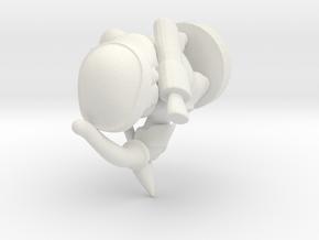 archer_pawn_10mm in White Natural Versatile Plastic